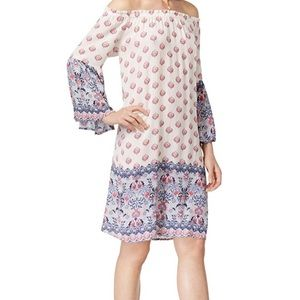 Style & Co Bell Sleeve Shift Dress A4-576